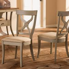 grey wood dining chairs. Baxton Studio Balmoral Beige Fabric And Distressed Gray Wood Dining Chairs ( Set Of 2) Grey S