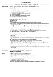 Corporate Manager Resume Samples Velvet Jobs