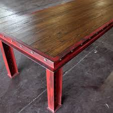 metal and wood furniture. firehouse table vintage industrial furnitureindustrial tablerepurposed furniturewood metal and wood furniture