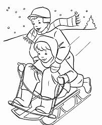 Small Picture Sledding Coloring Pages Sheets 3192