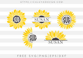 All files are made correctly using after purchasing you will surprise how many great extra files you will receive free… Free Sunflower Monogram Svg Png Eps Dxf By Caluya Design