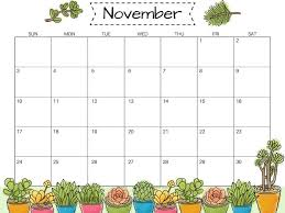 November November Calendar Monthly November 2019 Calendar Template Pdf Printable