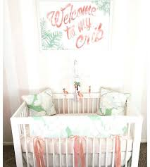 flamingo baby bedding welcome to my crib nursery art pink flamingo nursery baby nursery new baby lucky to be in love on