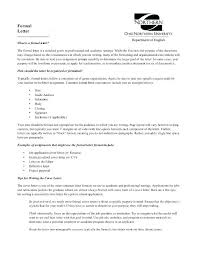 Formal Cover Letter Example Formal Letter Sample Formal Cover Letter