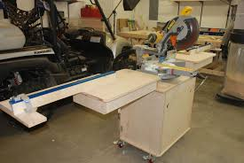 portable chop saw table. fully extended fence portable chop saw table