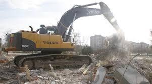 Kaymakamlık binası yıkılıyor ile ilgili görsel sonucu