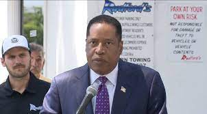 Gubernatorial candidate Larry Elder ...