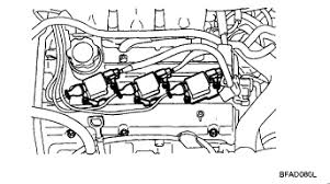 2004 kia sorento lx coil pack 4wd engine diagrams and manuals i see the three things in the middle of the picture those are the coil packs they feed two cylinders of your v 6 each but it showed only one as baing bad