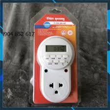 Ổ cắm hẹn giờ Điện Quang ĐQ ESK DT12 W 13 (Điều chỉnh điện tử, 1 lỗ - 3  chấu, trắng) chính hãng
