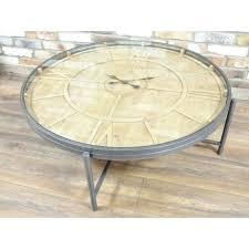 clock coffee table clock coffee table round