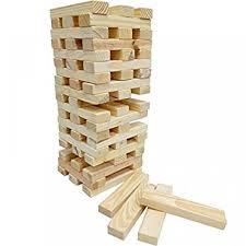 Wooden Brick Game GIANT TOWER BLOCKS WOODEN TUMBLING 100100M GARDEN GAME OUTDOOR FAMILY 37