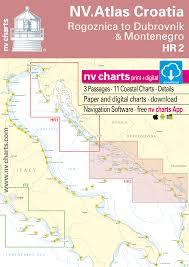 Nautical Charts Croatia Free Nv Charts Hr 2 Nv Atlas Croatia Vodice To Dubrovnik Montenegro