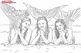 Small Picture Mako Mermaids H20 Just Add Water Coloring Pages Sketch Coloring Page