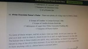 white chocolate reese s shake herbalife shake white chocolate drink recipes meal prep
