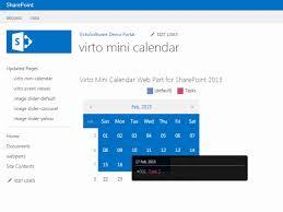 Sharepoint Mini Calendar Web Part Virtosoftware