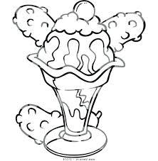 empty ice cream cone coloring page. Brilliant Cream Ice Cream Sundae Coloring Pages Cone Sheets Printable Vector Image A Clip  Colouring  In Empty Ice Cream Cone Coloring Page M