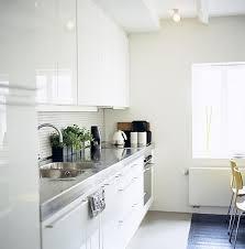 kitchensmall white modern kitchen. Modren Kitchensmall White Small One Wall Kitchen Interior Design Ideas In Apartment On Kitchensmall Modern