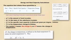 5 energy and heat capacity calculations