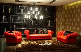 Red Sofa Design Living Room Red Sofa Blue Wall Front Red Sofa Stock Photo Living Room Ideas