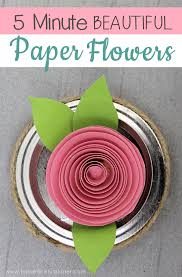 How To Make A Beautiful Flower With Paper How To Make Beautiful Diy Paper Flowers In 5 Minutes