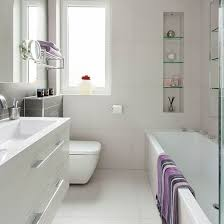 modern bathroom white. Small Modern White Bathroom | Decorating Ideal Home Housetohome.co.uk A