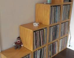 vinyl record storage furniture. vinyl record storage cube stackable lp album shelf natural fits 70 records furniture b
