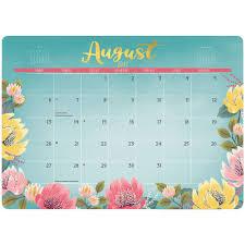 orange circle decorative desk blotter calendar 2018 blossoms