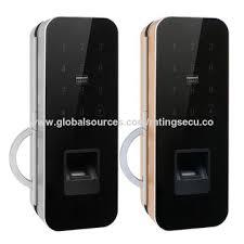 smart sliding glass door lock support fingerprint password cards and remote