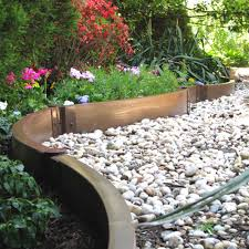 Diy Lawn Edging Ideas Creative Idea Vegetables Garden With Brown Wood Raides Garden