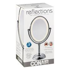details about conair reflections vanity mirror 7x magnification led lighted makeup lchrome
