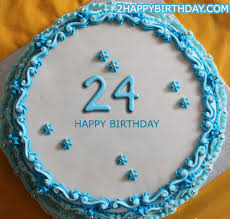 Happy 24th Birthday Cake With Name 2happybirthday
