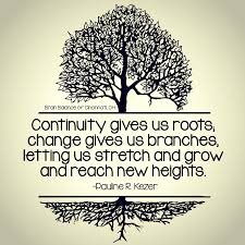 Quotes About Change And Growth Fascinating Continuity Gives Us Roots Change Gives Us Branches Letting Us