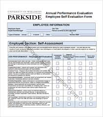 16+ Sample Employee Self Evaluation Form – Pdf, Word, Pages | Sample ...