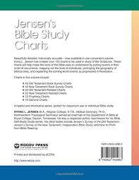 Jensen Bible Study Charts Jensens Bible Study Charts Amazon Co Uk Irving L Jensen
