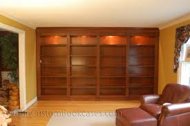 bc160 custom built in bookcases with accent lighting