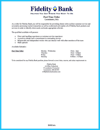 Cool Learning To Write From A Concise Bank Teller Resume Sample