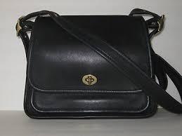 Vintage coach rambler legacy shoulder bag, crossbody, black leather 9061