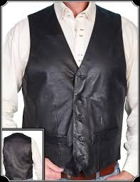 nice looking western style leather vest from scully is perfect for a barn or an old west shootout to enlarge image