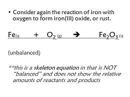 consider again the reaction of iron with oxygen to form iron iii oxide