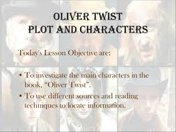 dickens oliver twist learning about the book by missrathor  characters and plot ppt oliver twist