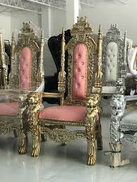 free nationwide delivery pink 61 throne chairs king queen princess royal baroque wedding event party lounge boutique furniture for in chicago
