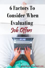17 best ideas about job offers job offer job factors to consider in evaluating job offers