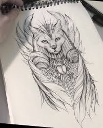 Pin By Ming Cheng Hsiao On Tattoos Bastet Tattoo Tattoos Egypt