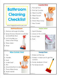 Bathroom Chart For Kids Editable Cleaning Chore Cards For Kids Chore Cards