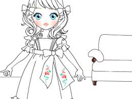 Small Picture Doll coloring page