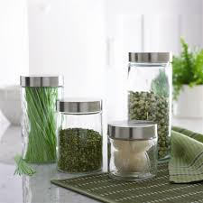 kitchen glass canisters with lids