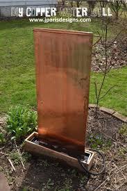 diy outdoor copper water wall