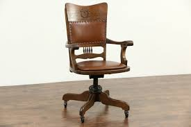 leather antique wood office chair leather antique. Brown Leather And Wood Office Chair Oak Desk Antique Melbourne Concept Design For Wooden Mats Base Chairs On -
