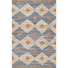 marla denim and jute diamonds ivory 8 ft x 10 ft area rug