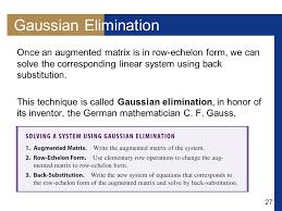 27 gaussian elimination
